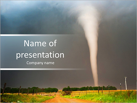 tornado powerpoint template & backgrounds id 0000006891, Modern powerpoint