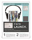 Loud Headphones Flyer Template