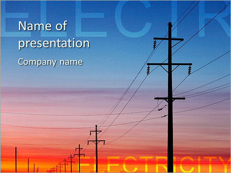 Electricity wire powerpoint template backgrounds id 0000006910 electricity wire powerpoint template toneelgroepblik Gallery