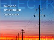 Electricity Wire PowerPoint Templates