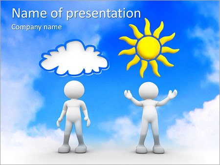 sun and cloud powerpoint template & backgrounds id 0000006924, Modern powerpoint