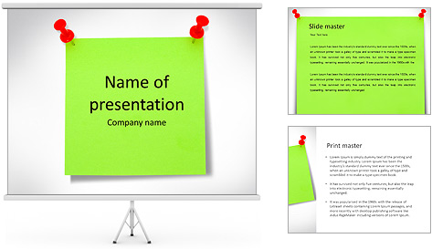 Paper Note PowerPoint Template