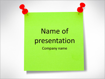 Paper Note PowerPoint Template - Slide 1