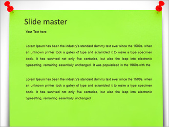 Paper Note PowerPoint Template - Slide 2