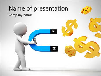 Dollars Magnet PowerPoint Template