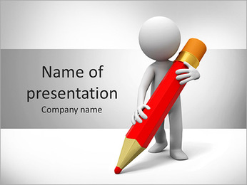 Write With Pencil PowerPoint Template