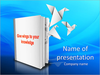 Knowledge Wings PowerPoint Template