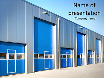 Logistic Center PowerPoint Template