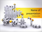 Team Collect Puzzle PowerPoint Templates