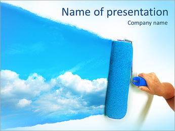 Pain Blue Sky PowerPoint Template