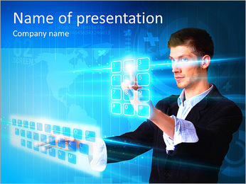 Touch Screen Keyboard PowerPoint Template
