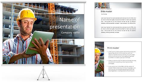 Do trabalhador da construção Modelos de apresentações PowerPoint
