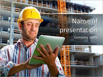 Stavební dělník PowerPoint šablony