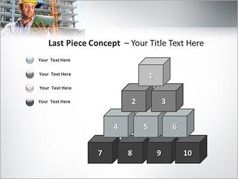 Do trabalhador da construção Modelos de apresentações PowerPoint - Slide 11