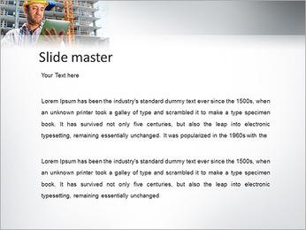 Do trabalhador da construção Modelos de apresentações PowerPoint - Slide 2