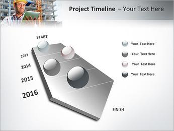 Do trabalhador da construção Modelos de apresentações PowerPoint - Slide 6