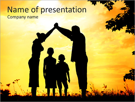 Houses powerpoint templates backgrounds google slides themes family with children powerpoint template toneelgroepblik Choice Image