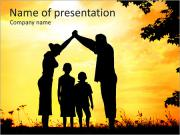 Family With Children PowerPoint Template