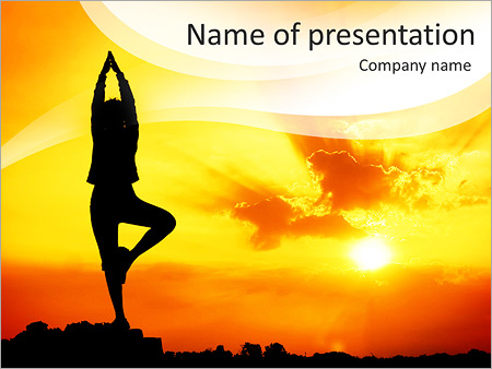 Yoga pose powerpoint template backgrounds id 0000006983 yoga pose powerpoint template toneelgroepblik