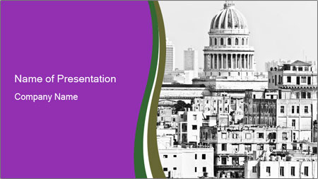 Trip to Old Havana PowerPoint Template