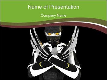 3D Steel Robot PowerPoint Templates - Slide 1