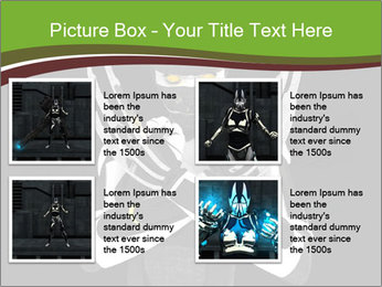 3D Steel Robot PowerPoint Templates - Slide 14