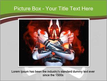 3D Steel Robot PowerPoint Templates - Slide 16