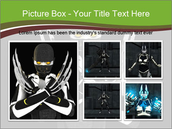3D Steel Robot PowerPoint Templates - Slide 19