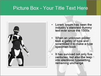 3D Female Robot Model PowerPoint Templates - Slide 13