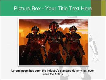3D Female Robot Model PowerPoint Templates - Slide 15