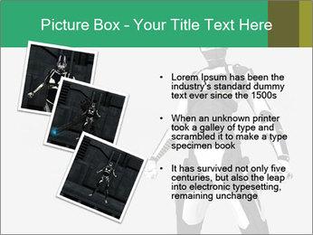 3D Female Robot Model PowerPoint Templates - Slide 17