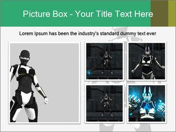 3D Female Robot Model PowerPoint Templates - Slide 19