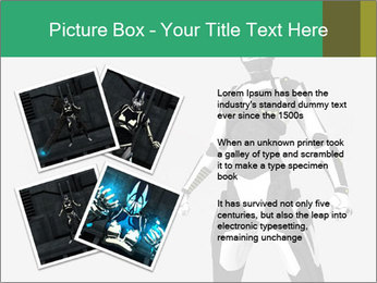 3D Female Robot Model PowerPoint Templates - Slide 23