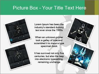 3D Female Robot Model PowerPoint Templates - Slide 24