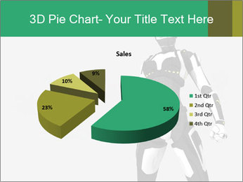 3D Female Robot Model PowerPoint Templates - Slide 35