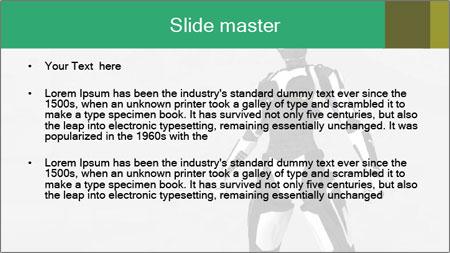 3D Female Robot Model PowerPoint Template - Slide 2