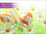 Eggs Painted for Easter Celebration PowerPoint Templates