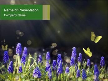 Spring Meadow Full ofFlowers PowerPoint Template - Slide 1