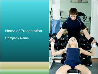 Gym Coach Working with Client PowerPoint Templates - Slide 1