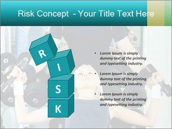 Gym Coach Working with Client PowerPoint Templates - Slide 81