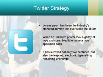 Gym Coach Working with Client PowerPoint Templates - Slide 9