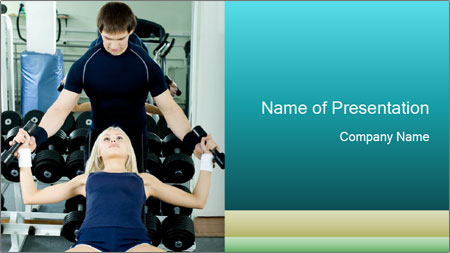 Gym Coach Working with Client PowerPoint Template