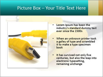 White and Yellow Cables PowerPoint Templates - Slide 13