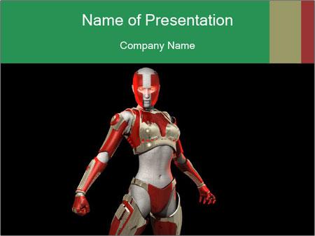 Female Robot PowerPoint Templates