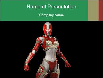 Female Robot PowerPoint Template - Slide 1