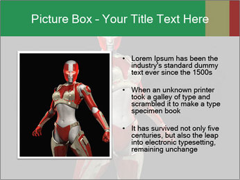 Female Robot PowerPoint Template - Slide 13