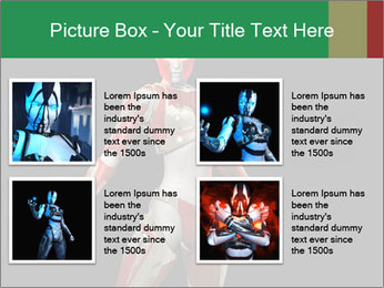 Female Robot PowerPoint Template - Slide 14