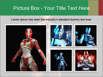 Female Robot PowerPoint Template - Slide 19