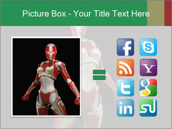 Female Robot PowerPoint Template - Slide 21