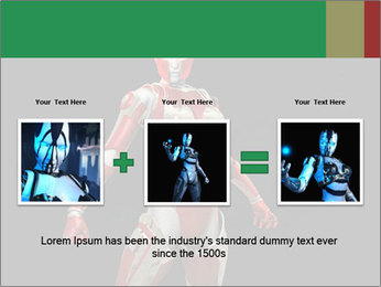 Female Robot PowerPoint Template - Slide 22